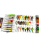 The bait suit combination suit 44 PCS bass boutique road bait hard baits false bait fish lamp soft bait mixture