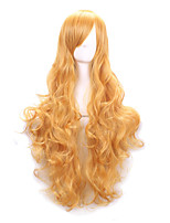 Hot Selling Yellow Color Synthetic Cheap Cosplay Wigs For Women Party Wigs