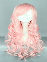 Harajuku Style 70cm  Long Heat Resistant Curly  Lolita Pink Cosplay Wig