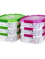 yooyee Многокамерное контейнеры свежие пищевые контейнеры (1.75l * 3р)