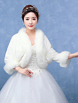 Women's Wrap Shrugs Faux Fur Wedding / Party/Evening Pattern