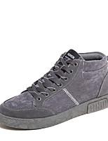 Men's Flats Fall / Winter Comfort  Casual Flat Heel Lace-up Black / Blue / Gray Walking