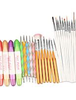 маникюрные наборы инструментов 3 в 1 для ногтей искусство дизайна набор расставить рисунок живопись ногтей кисточку