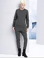 De las mujeres Pantalones Chinos-Simple Microelástico-Rayón / Poliéster / Licra
