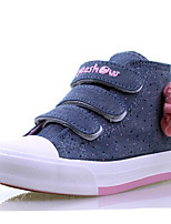 Girl's Boots Spring / Fall Comfort Canvas / Cotton Outdoor / Casual Flat Heel Hook & Loop Blue / Red Walking / Sneaker