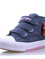 Синий Красный-Для девочек-Для прогулок Повседневный-Полотно Хлопок-На плоской подошве-Удобная обувь-Ботинки
