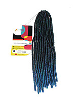 Faux Locs  MT1B/GREEN Synthetic Hair Crochet Braids 18inch Kanekalon 24 Strands 90g