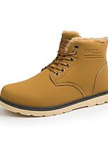Men's Fashion Boots Comfort Microfibre Outdoor/Casual Flat Walking High Top Cotton Shoes