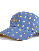 Casual Poker Cowboy Denim Plum Square Printing Baseball Couple Outdoor Sun Hat