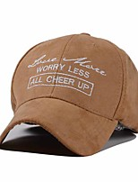 Men And Women Vintga Embroidery Alphabet Printing Sun Hat Leisure Deerskin Baseball Cap
