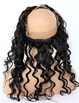 360 Mongolian Loose Wave Lace Frontal Closure With Baby Hair 7A Human Hair Full Lace Band Closure Pre Plucked