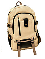 Unisex Canvas Sports / Outdoor Backpack Green / Brown / Black