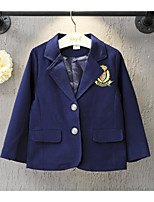 Boy's Casual/Daily Solid Suit & BlazerCotton Spring / Fall Blue