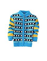 Menino de Suéter & Cardigan,Casual Estampado Cashmere / Lã Inverno / Primavera / Outono Azul / Verde