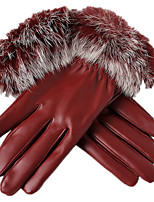 belle velours gants chauds (rouge)