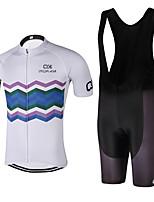 Спорт Велокофты и велошорты-комбинезоны унисекс Короткие рукава ВелоспортДышащий / Быстровысыхающий / Анатомический дизайн /
