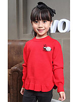 Girl's Casual/Daily Solid Sweater & CardiganWool Winter / Spring / Fall Red / Gray