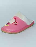 Розовый-Для девочек-На каждый день-Полиуретан-На плоской подошве-Босоножки-Тапочки и Шлепанцы