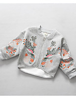 Girl's Casual/Daily Embroidered Suit & BlazerCotton Spring / Fall Gray