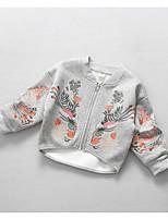 Completo e giacca Girl Casual Con ricami Cotone Primavera / Autunno Grigio