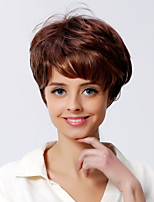 Short Wavy Style Medium Auburn Color Synthetic Wigs for Women