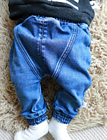 Baby Casual/Daily Solid PantsCotton Spring Blue