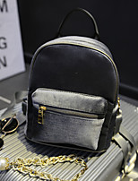 Casual Backpack Women Silk Purple Red Gray Black