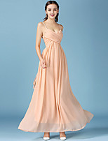 1287  Women's Party/Cocktail / Club Sexy Chiffon DressSolid Strap Maxi Orange Cotton / Others All
