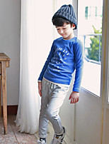 Boy's Casual/Daily Solid TeePolyester Winter / Fall Blue