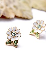 European Style Luxury Gem Geometric Earrrings Dasiy Flower Stud Earrings for Women Fashion Jewelry Best Gift