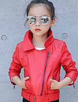 Girl's Casual/Daily Solid Suit & BlazerCotton Spring / Fall Black / Red