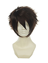 Hakuouki Okita Soji Dark Brown Versatile Upturned Short Halloween Wigs Synthetic Wigs Costume Wigs