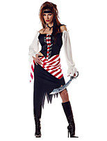 New!Adult Sexy Pirate Costumes Classic Pirates of The Caribbean Costume for Halloween Fantasia Cosplay Sexy Party Dress
