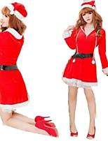 Festival/Svátek Halloweenské kostýmy Červená Jednobarevné Sukně / Pásek / Klobouky Vánoce Dámské Plyš