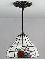 25W Pendant Light   Tiffany / Vintage Painting Feature for Mini Style Glass Living Room / Entry