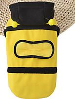 Chien Costume Pulls à capuche Jaune Vêtements pour Chien Eté Printemps/Automne Animal Mignon Cosplay