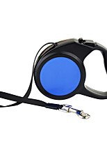 Dog Leash Automatic Solid Blue Nylon / Plastic