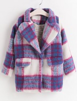 Girl's Casual/Daily Plaid Down & Cotton PaddedCotton Winter / Spring / Fall Purple