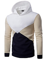 Men's Casual/Daily Sports Active Simple Hoodie Color Block Micro-elastic Cotton Long Sleeve Spring Fall