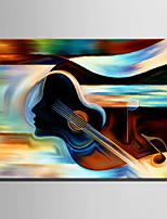Mini Size E-HOME Oil painting Modern Abstract Violin And Women Pure Hand Draw Frameless Decorative Painting