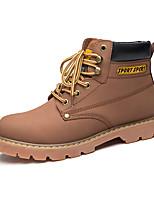 Masculino-Botas-Trabalho & Segurança-Salto Baixo-Marrom / Amarelo / Café-Couro-Ar-Livre / Casual / Para Esporte