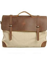 Men Canvas Casual / Office & Career Shoulder Bag Beige / Green / Brown / Gray