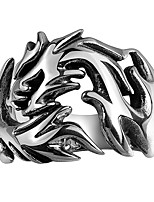 New Mens Jewellery Rings Party Rings 316L Stainless Steel Jewelry Men Rings Luxury Openwork Fire Dragon Punk Ring