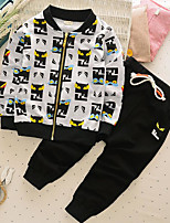 Boy's Casual/Daily Print Clothing SetCotton Spring / Fall White