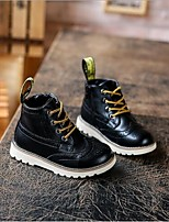 Boy's Boots Comfort Microfibre Casual Black / Brown