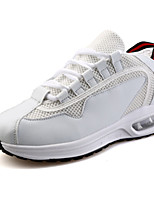 Unisex Sneakers Spring / Fall Comfort PU Casual Flat Heel Black / Red / White / Black and White Others