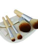 4 Makeup Brushes Set Nylon Hair Professional / Portable Wood Handle Face/Eye