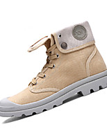 Men's Boots Spring / Summer / Fall / Winter / Work & Safety Canvas Casual Flat Heel Lace-up Black / Yellow / Gray