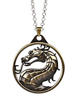 Necklace Mortal Kombat Dragon Pendant Necklaces Jewelry Party / Daily Unique Design Alloy Coppery 1pc Gift