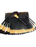 5 Makeup Brushes Set Horse / Synthetic Hair Professional / Portable Wood Eye / Lip